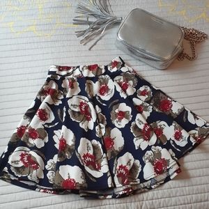Blue Floral skirt sz. M Women's Kathy